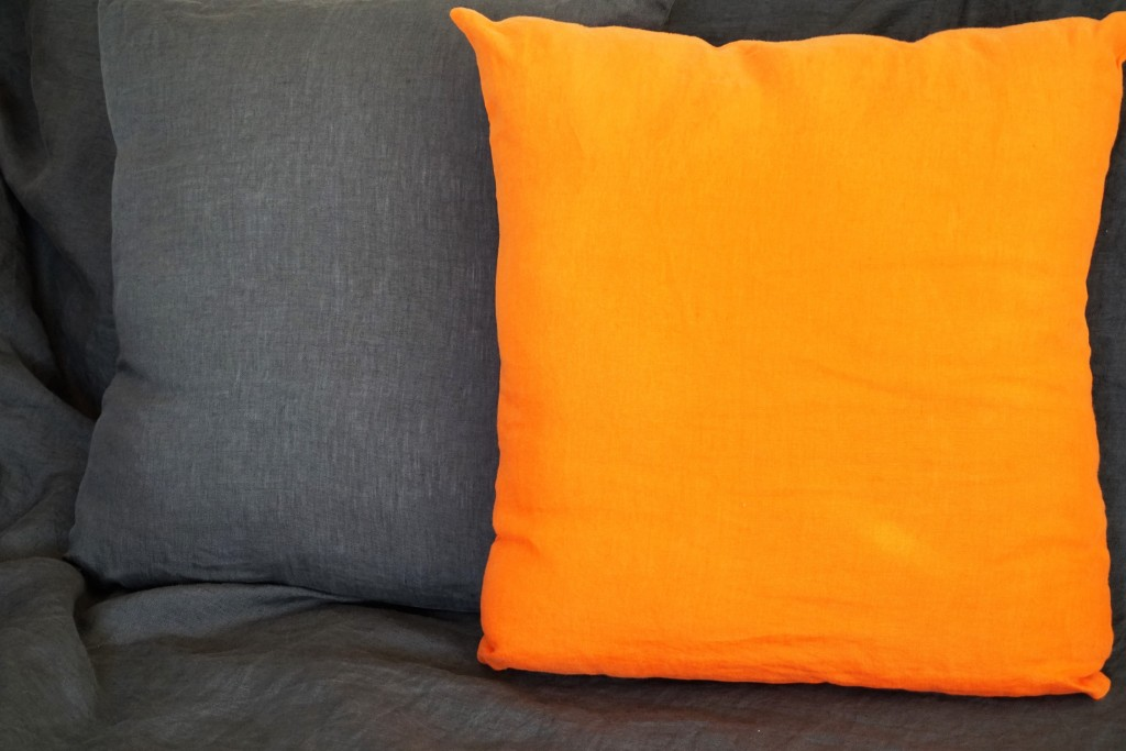 lin lav anthracite et orange