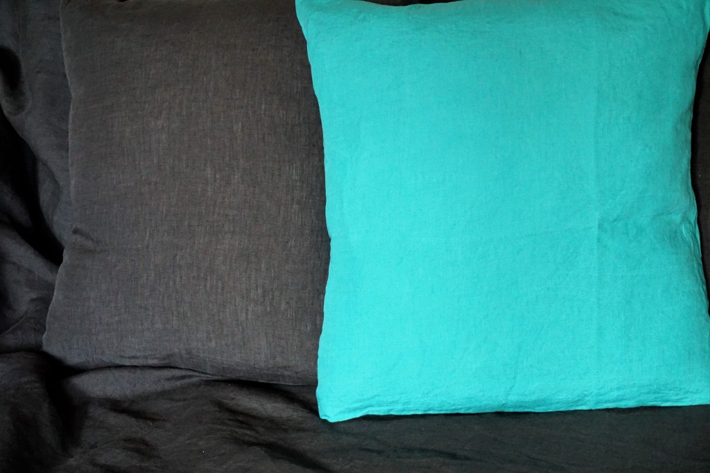 lin lav anthracite et turquoise